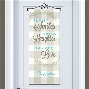 Happy Harvest Personalized Door Banner | Personalized Fall Home Decor