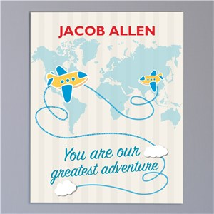 Personalized Greatest Adventure Canvas for Baby Boy | Canvas Wall Art