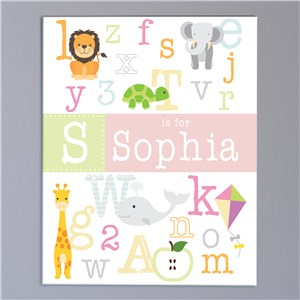 Personalized Alphabet Baby Wall Canvas | Canvas Wall Art