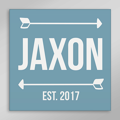 Personalized Arrow Wall Canvas | Personalized Baby Wall Hangings