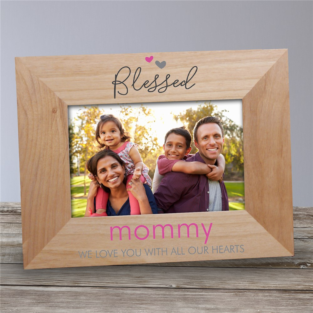 Personalized Wooden Blessed Picture Frame