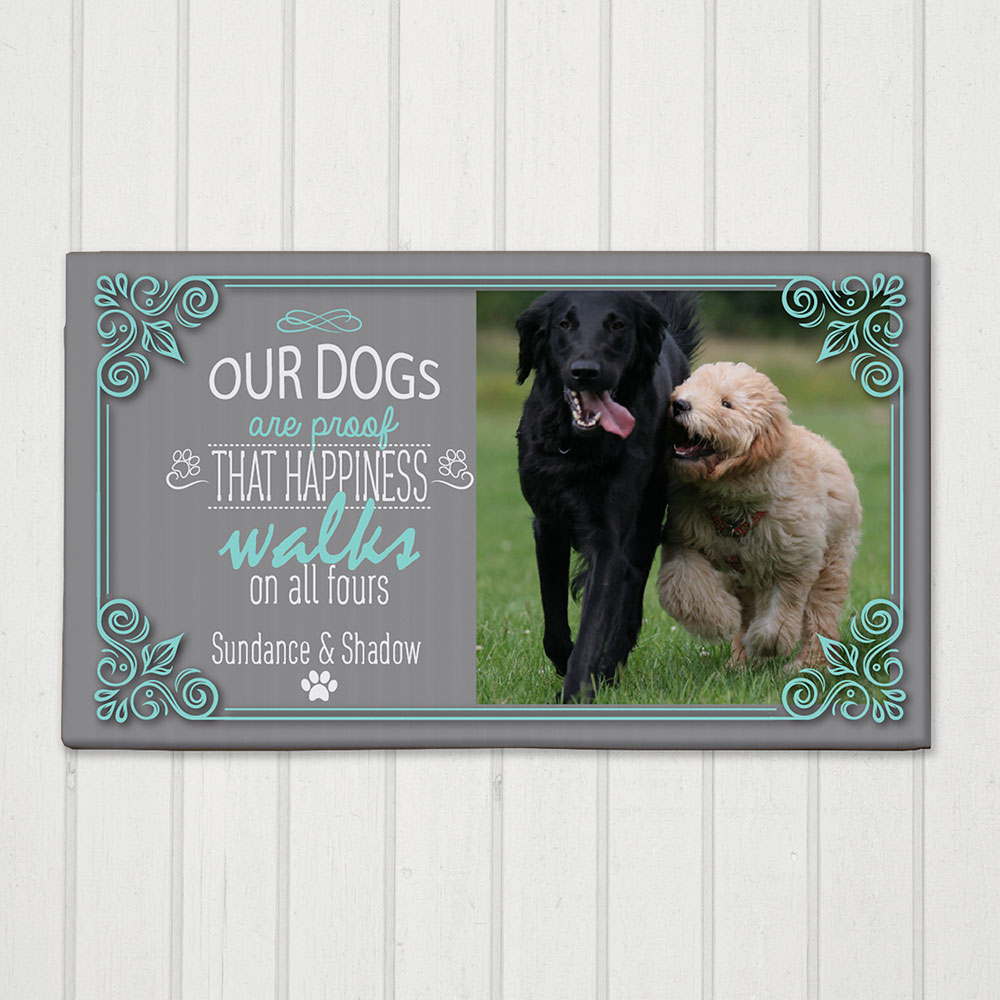 Personalized Happines Walks Canvas | Pet Canvas Portraits