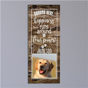 Personalized Happiness Runs Canvas | Personalized Pet Canvas