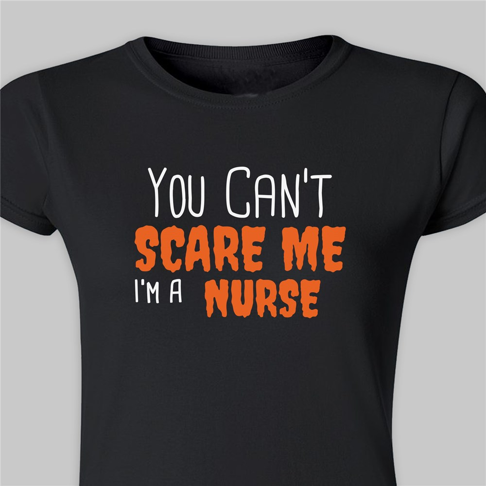 Personalized You Can't Scare Me I'm A Teacher Ladies T-Shirt | Halloween Shirts For Adults