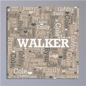 Personalized Family Name Word-Art Canvas | Personalized Family Name Signs