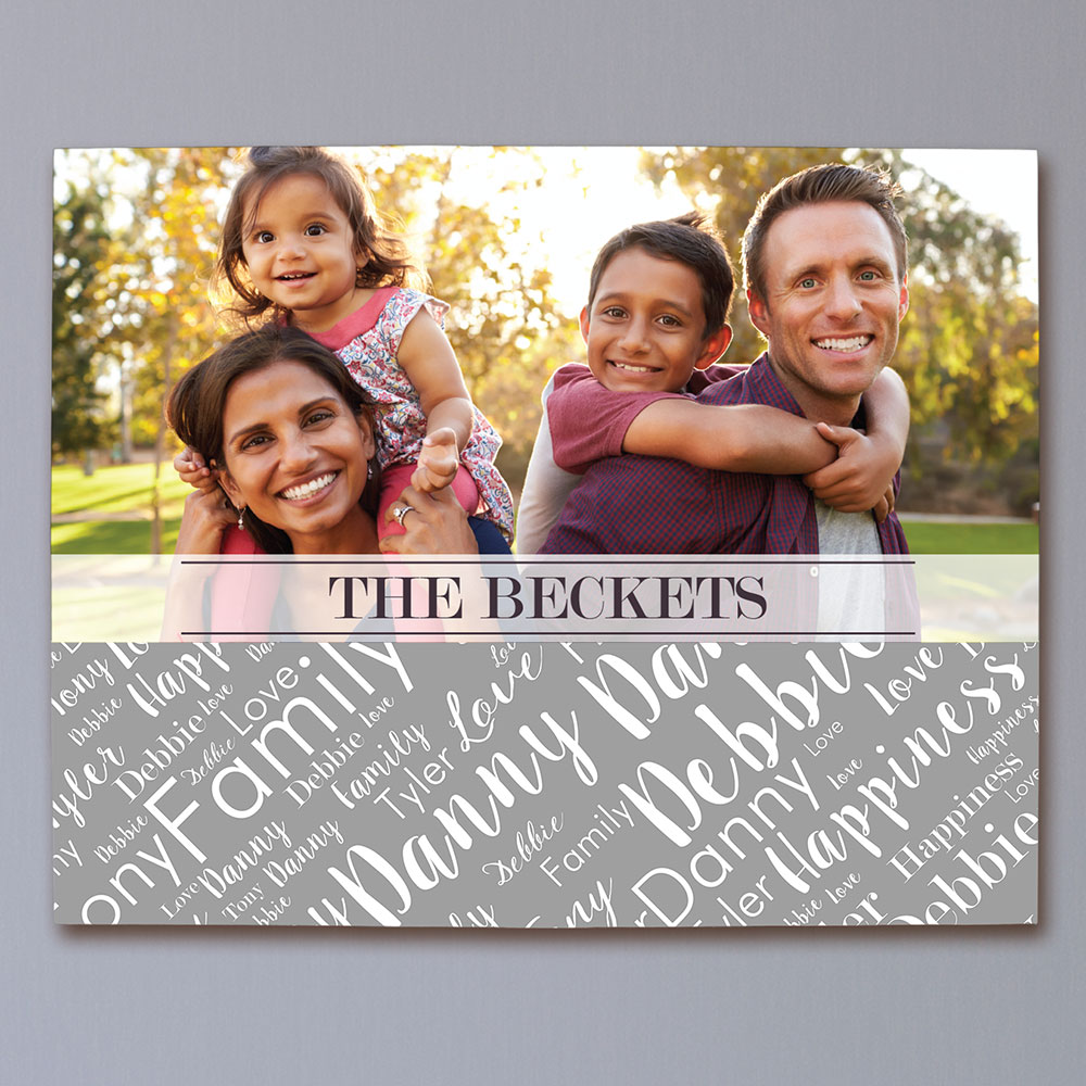 Personalized Family Photo Word-Art Wall Canvas | Photo Art