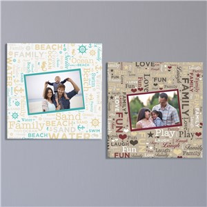 Personalized Memories Word-Art Photo Canvas | Photo To Canvas Art