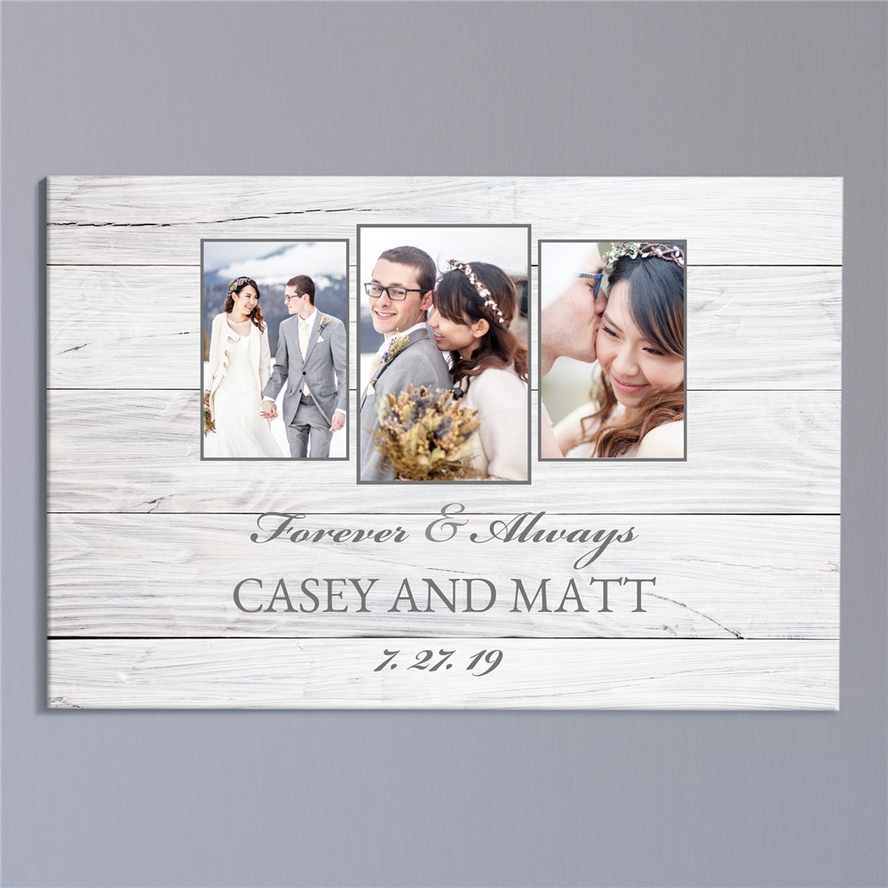 Personalized Forever and Always Photo 20x30 Wall Canvas | Wedding Photo Gifts