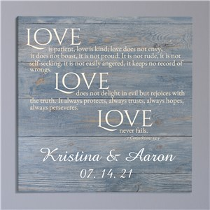 Personalized Love Is Patient Wall Canvas | Love Is Patient Personalized Wall Art