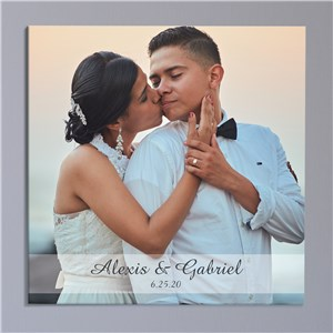 Personalized Couples Wall Canvas | Personalized Wedding Canvas Art