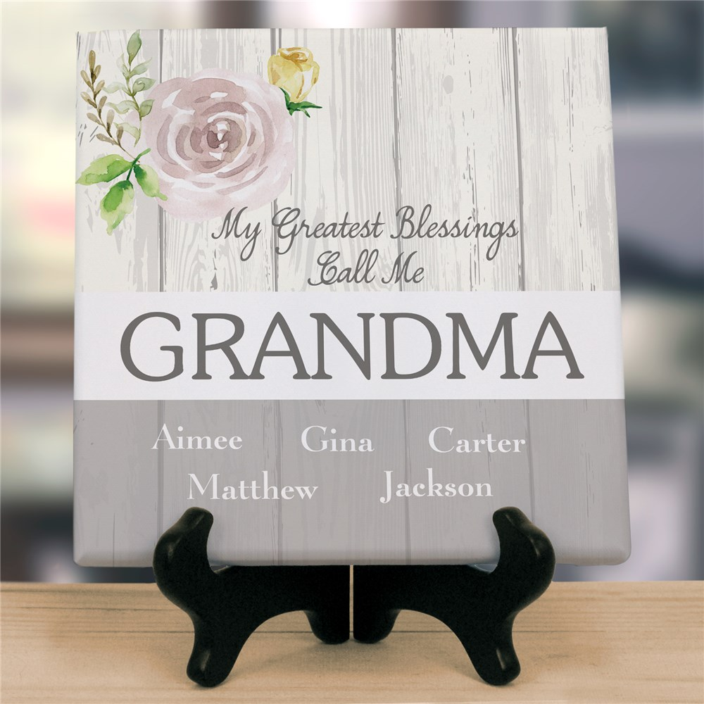 Personalized Greatest Blessings Canvas | Personalized Mother's Day Gifts For Grandma