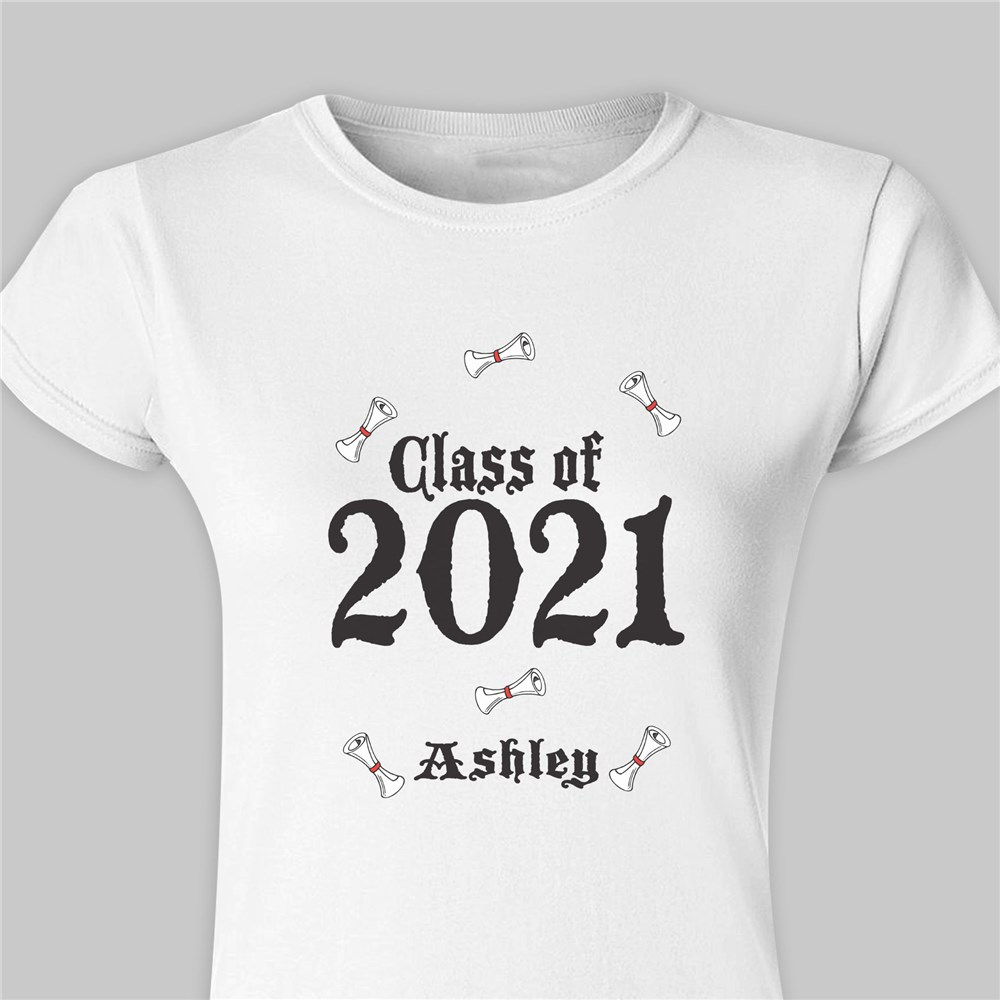Graduation Fitted T-Shirt | Personalized Graduation Gifts