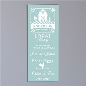 Personalized Farmhouse Wall Canvas | Personalized Wall Art