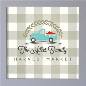 Harvest Market Square Personalized Canvas | Personalized Wall Art