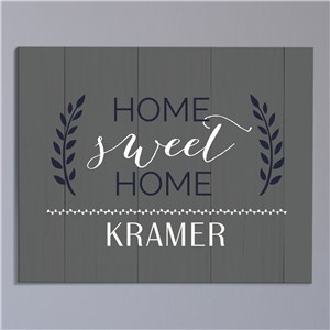 Home Sweet Home Personalized Canvas | Personalized Wall Art