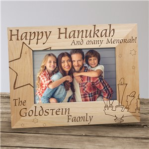 And Many Menorah Picture Frame | Personalized Wood Picture Frames