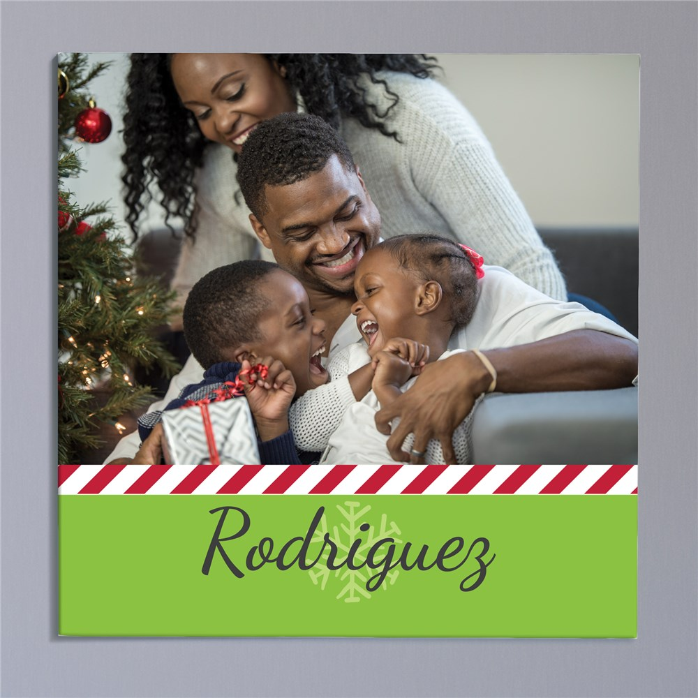 Personalized Christmas Photo Canvas | Photo Wall Art