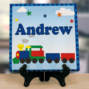 All Aboard Personalized Wall Canvas 9114064