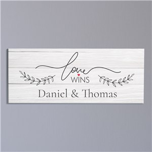 Love Wins Wall Art | Personalized Wedding Gifts
