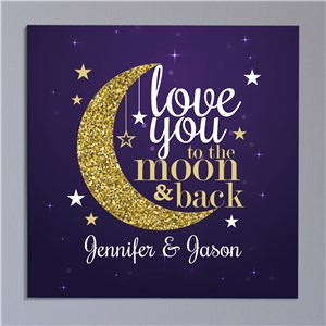 Personalized Signs | Love You To The Moon And Back Art