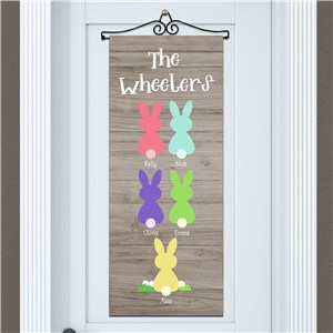 Personalized Easter Decor | Colorful Bunny Shapes Sign