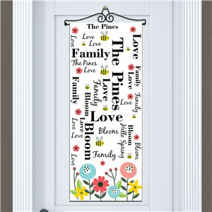 Personalized Spring Decorations | Personalized Door Banner