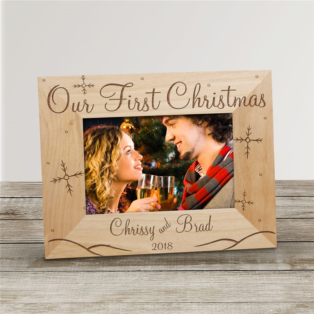 Our First Christmas Picture Frame | Personalized Christmas Picture Frames
