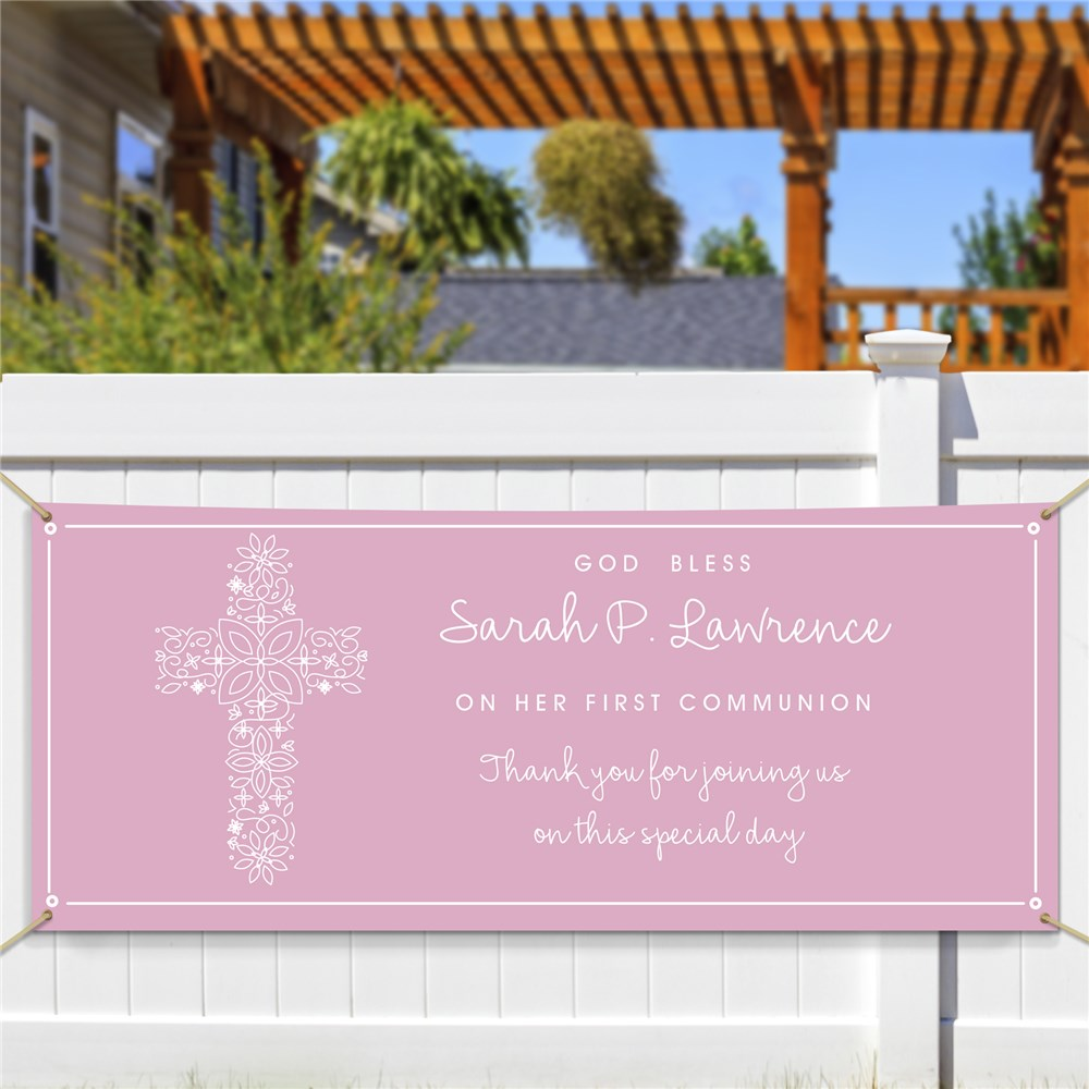 Communion Party Sign | Personalized First Communion Decor