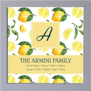 Personalized Wall Canvas | Personalized Lemon Sign