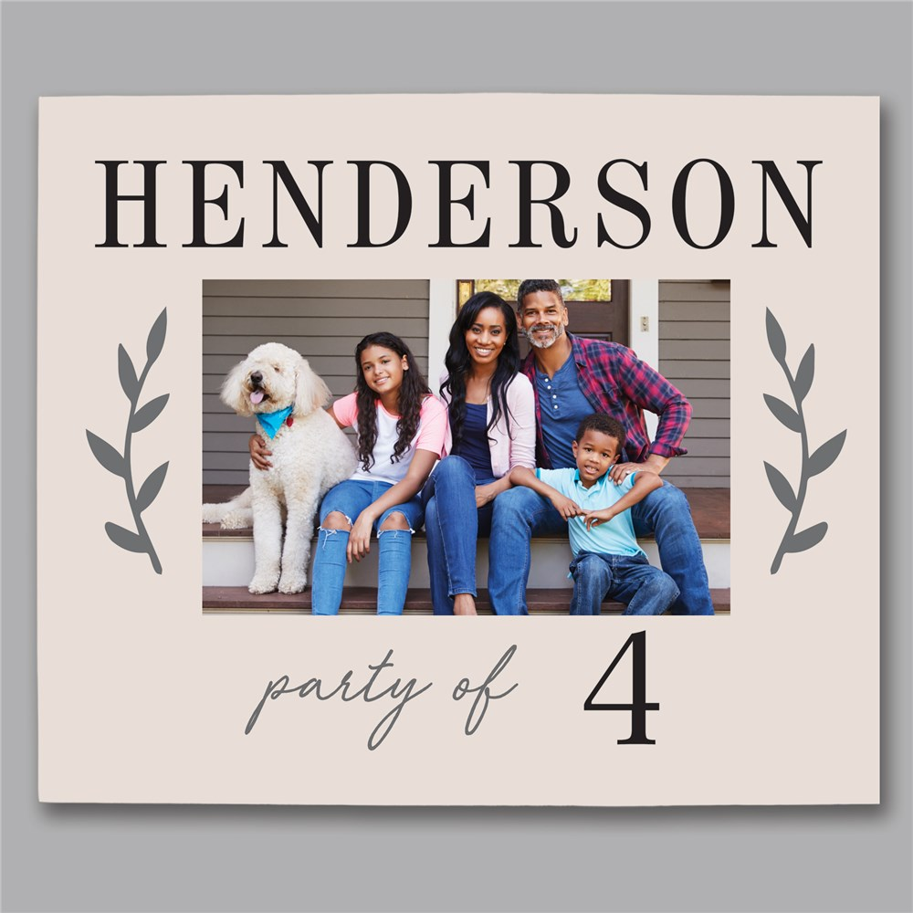 Personalized Photo Canvas | Party Of Family Art