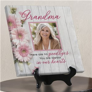 Personalized Memorial Flowers Tabletop Canvas 911493513