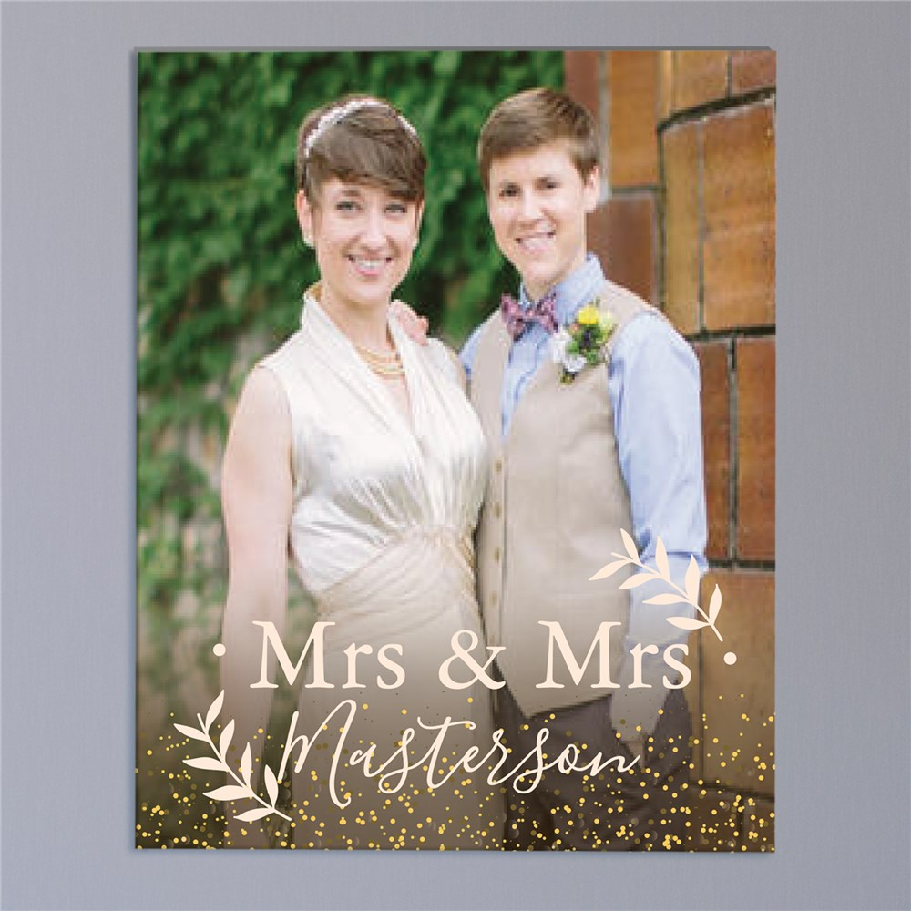 Wedding Title Photo Canvas | Personalized Wedding Photo Frame Filter