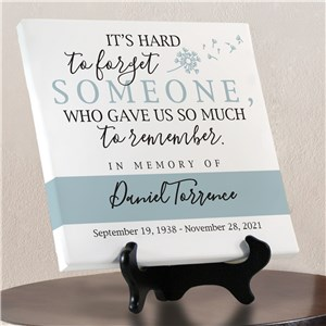 It's Hard To Forget Personalized Canvas | Customized Memorial Art