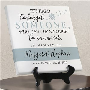 Personalized It's Hard To Forget Someone Canvas 911497513