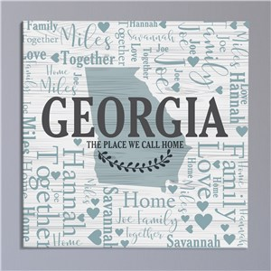 Personalized State Word-Art Canvas | State Art for Home