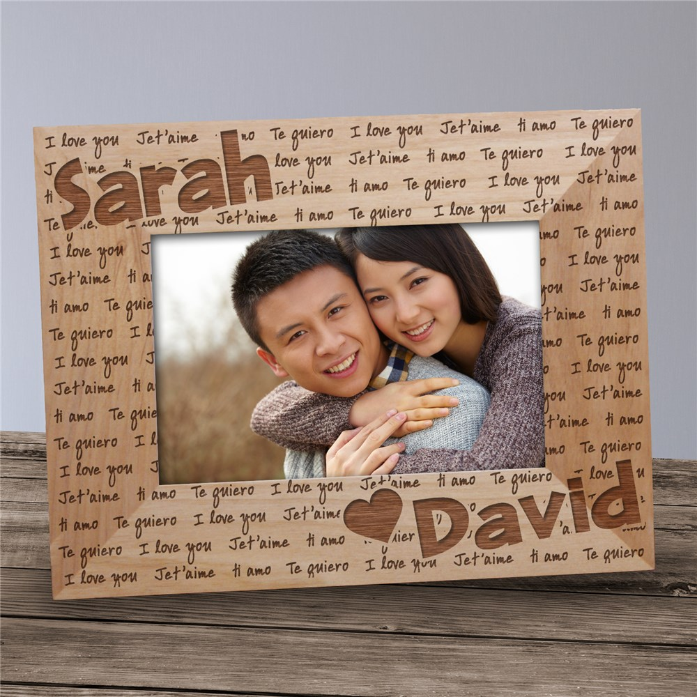 I Love You Personalized Wood Picture Frame | Personalized Valentines Frames