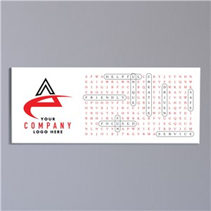 Word Search Canvas | Fun Personalized Corporate Sign