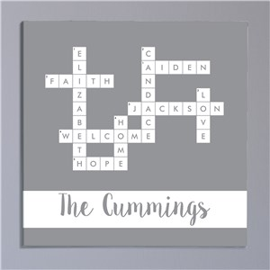 Personalized Family Crossword Signs | Customized Home Decor Sign