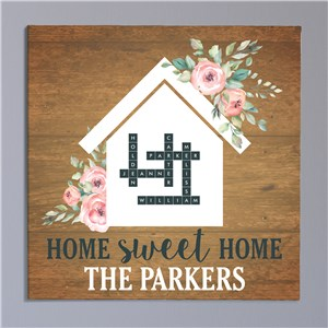Personalized Crossword Canvas | Home Sweet Home Sign
