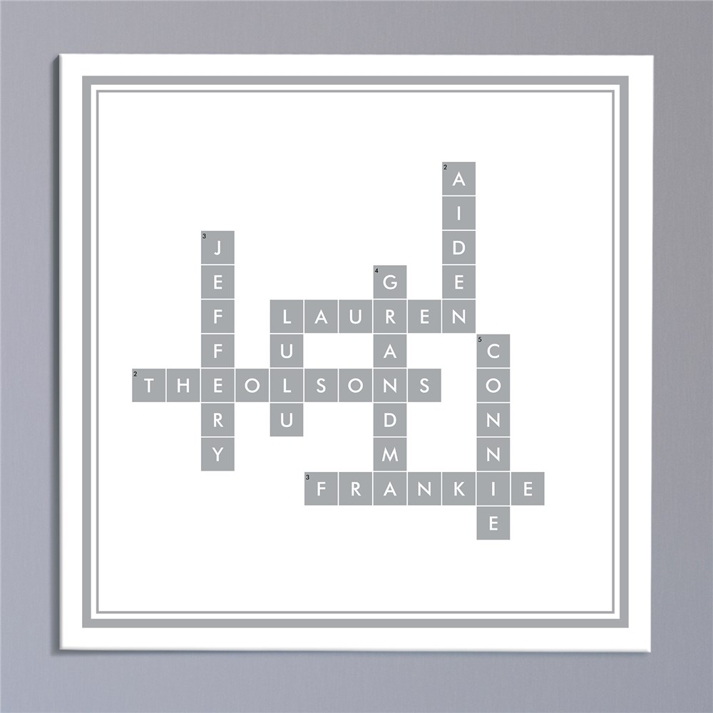 Personalized Crossword Canvas | Custom Canvas Decor