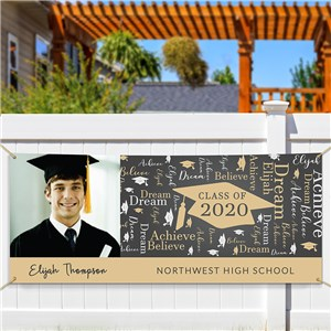 Personalized Word-Art Graduation Banner