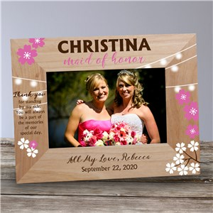 Personalized Bridesmaid Wooden Frame | Personalized Bridesmaid Frames