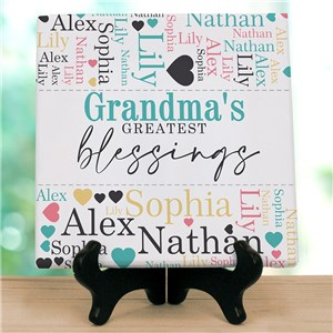 Personalized Greatest Blessings Word-Art Tabletop Canvas