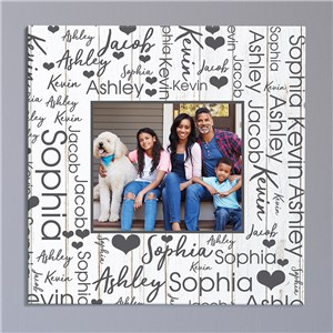 Personalized Photo Word-Art Square Canvas