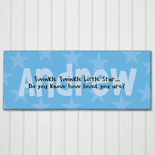Twinkle Twinkle... Personalized Baby Wall Canvas | Unique Baby Shower Gift