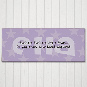 Twinkle Twinkle Personalized Baby Wall Canvas | Unique Baby Shower Gift