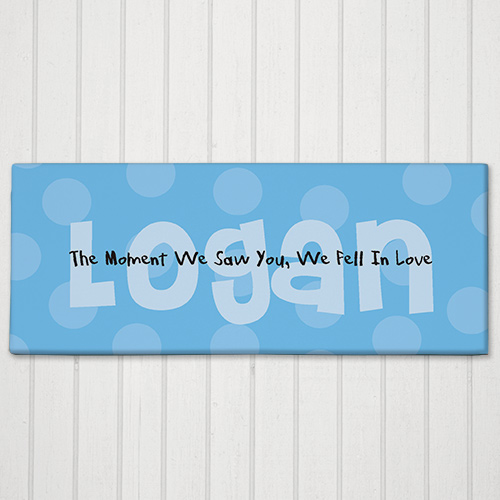 The Moment We Saw You Personalized Baby Wall Canvas | Personalized Baby Gifts