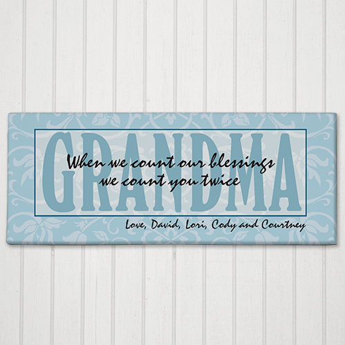 Count Our Blessings Wall Canvas | Personalized Name Art