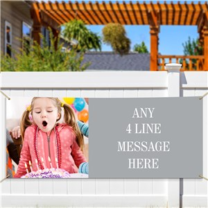 Personalized Any 4 Line Message Banner