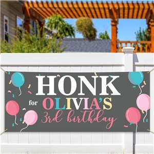 Personalized Birthday Balloons Banner
